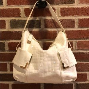 Michael Kors Beverly Ivory Patent Leather Bag